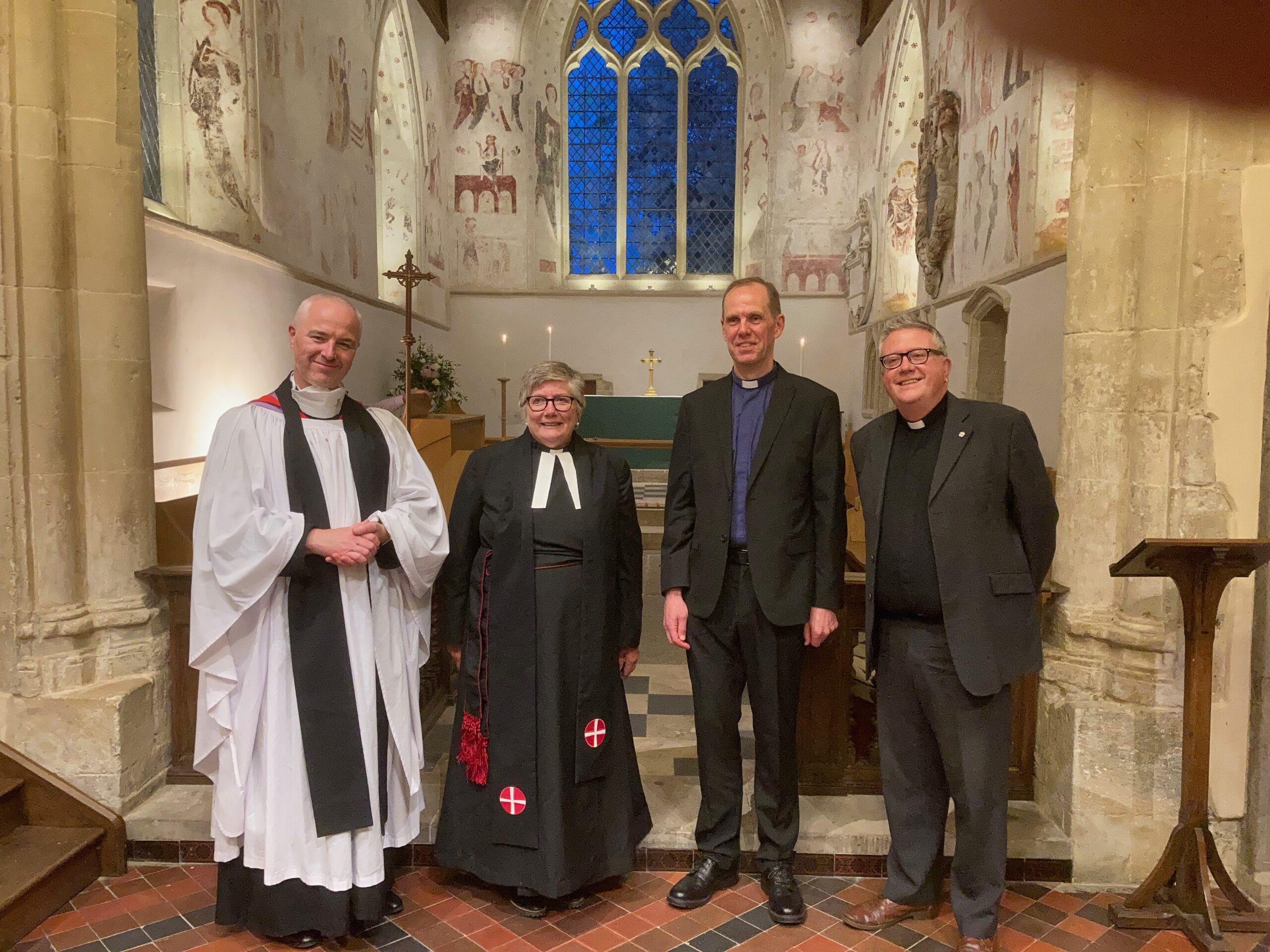 (l-r) Fr Michael, Rev'd Helen Cameron, Rev'd Stephen Spain, Rev'd Peter Powers